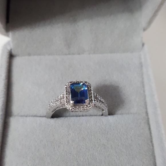 None Jewelry   Stunning Blue Mystic Topaz Ring 925   Poshmark